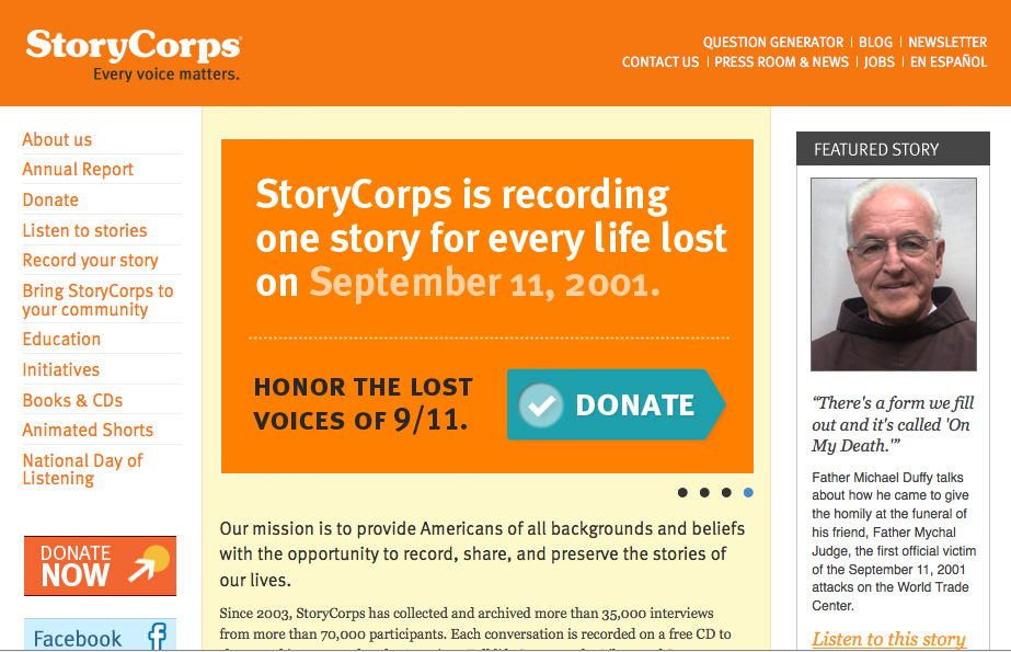 StoryCorps Home Page