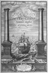 Francis Bacon Instauratio Magna frontispiece 1620