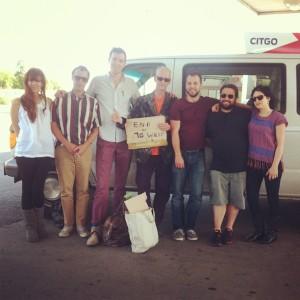 "The band, ""Here We Go Magic"" picks up hitchhiker, John Waters – http://herewegomagicband.tumblr.com/"